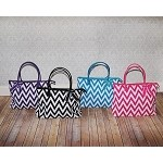 Chevron Quilted Carry-All -  Pink or Turquoise