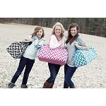 Chevron Duffel with Bow- 5 Colors