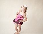 Hot Pink & Chocolate Tank & Bloomers Set