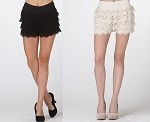 Crochet Shorts- Black or Ivory