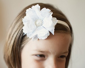 Lacey Headband- Pink, Black & White