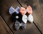 Rosette Hair Clips in 5 colors