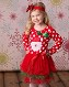 Polka Dot Santa Tutu Dress