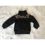 Black and Leopard Sherpa Pullover