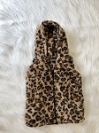 Leopard Print Hooded  Vest