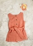 Dusty Rose Linen Romper