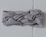 Gray Cotton Braided Headband