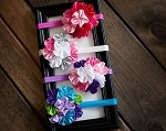 Satin Cluster Headband- 4 Color Combos