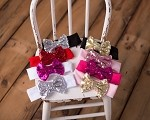Large Sequin Bow Headband- Many colors!